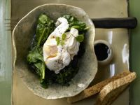 Poached Eggs on Spinach recipe