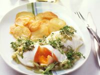 Poached Eggs with Cucumber and Cress Vinaigrette recipe
