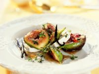 Poached Figs with Goat Cheese recipe