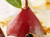 Poached Pear with Cream recipe