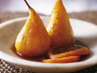 Poached Pears with Caramel recipe