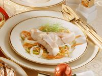 Poached Redfish with Vegetables recipe