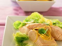 Poached Salmon with Savoy Cabbage recipe