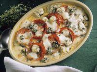 Polenta and Tomato Gratin