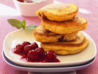 Polenta Pancakes with Cherries recipe