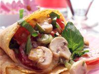 Polenta Pancakes with Vegetable Ragout recipe