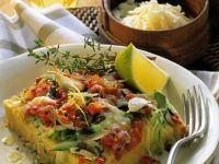 Polenta Quiche recipe