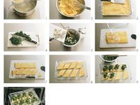 Polenta Slices with Spinach recipe