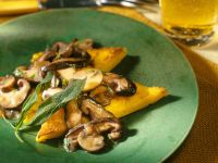 Polenta with Mushrooms recipe