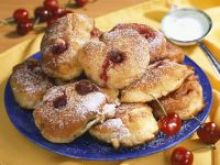 Polish Donuts with Cherries recipe