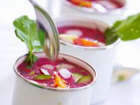 Polish-Style Beet Soup with Egg recipe
