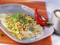 Pollock Fillets with Zucchini Crust recipe