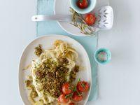 Pollock with Pesto Crust recipe
