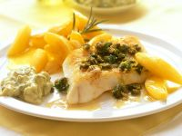 Pollock with Potatoes and Remoulade Sauce recipe
