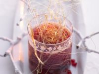 Pomegranate and Apple Grog with Spun Sugar recipe