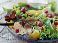 Pomegranate and Chicken with Leaves recipe