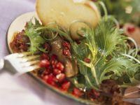 Pomegranate and Duck Liver Salad recipe