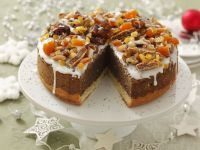 Poppy Seed Cake with Dried Fruit and Nut Topping recipe