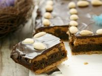 Poppy Seed Cake with Peanut Butter and Chocolate recipe