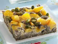 Poppy Seed Cake with Plums and Pistachios recipe