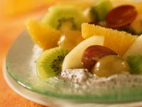 Poppy Seed Cream with Fresh Fruit recipe