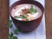 Porcini and Smoked Pork Soup recipe