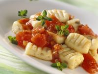 Porcini Gnocchi with Tomato Sauce recipe