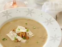 Porcini Mushroom Soup with Walnuts recipe