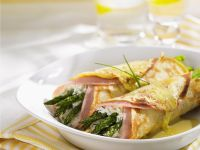 Pork and Green Spear Pancake Rolls recipe