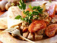 Pork and Tomato Curry with Flatbread recipe