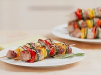 Pork and Vegetable Skewers recipe