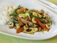 Pork and Vegetable Stir-fry with Cashews recipe