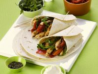 Pork and Vegetable Wraps recipe