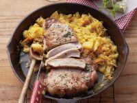 Pork Chop with Pineapple Sauerkraut recipe