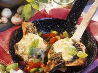 Pork Chops with Mushroom and Herb Crust recipe