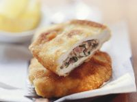 Pork Cutlet with Mushroom and Ham Stuffing recipe
