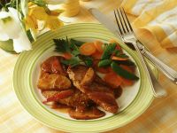 Pork Cutlets with Apples and Vegetables recipe