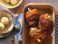 Pork Knuckles with Potato Dumplings recipe