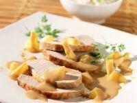 Pork Loin Roast with Pineapple Curry Sauce recipe
