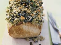 Pork Loin with Mediterranean Crust recipe