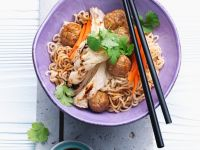 Pork Meatballs with Asian Noodles recipe