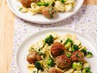 Pork Meatballs with Pasta and Broccoli recipe