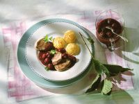 Pork Medallions with Cherry Sauce recipe