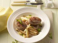 Pork Medallions with Kohlrabi Fries recipe