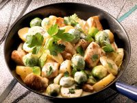 Pork Pan with Brussels Sprouts and Potatoes recipe