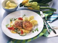 Pork Patties with Zucchini and Potatoes recipe