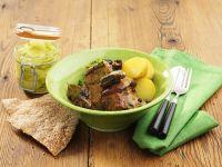 Pork Ribs with Cream Sauce and Potatoes recipe