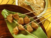 Pork Satay Skewers with Peanut Sauce recipe