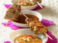 Pork Satay with Dips recipe