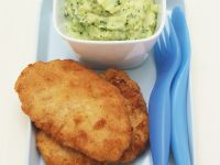 Pork Schnitzels with Potato and Broccoli Purée